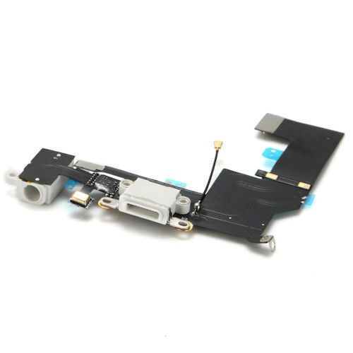 Apple iPhone 5SE Charging Port with Flex Cable, Headphone Jack and Microphone White