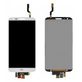 LG G2 D800 D801 D803 LS980 VS980 L-01F LCD Screen Display with Digitizer Touch Panel, White, NTT docomo Logo