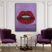 Rose Lips Canvas Wall Art