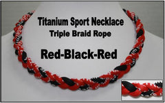 Titanium Sport Triple Braid Necklace 20""