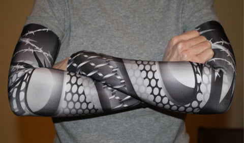 Barbed Wire-Chain Link Compression Sleeves