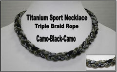 "20"" Titanium Sport Necklace (Camo/Black/Camo)"