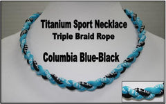 "20"" Titanium Sport Necklace (Columbia Blue/ Black)"