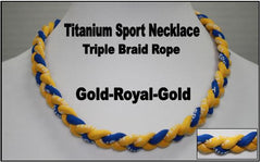 "20"" Titanium Sport Necklace (Gold/Royal/Gold)"