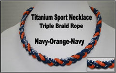 "20"" Titanium Sport Necklace (Navy/Orange/Navy)"