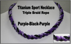 "20"" Titanium Sport Necklace (Purple/Black/Purple)"