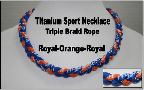 "20"" Titanium Sport Necklace (Royal/Orange/Royal)"
