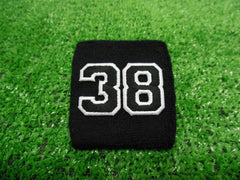 Black  -  Wristbands with Black Embroidered Numbers