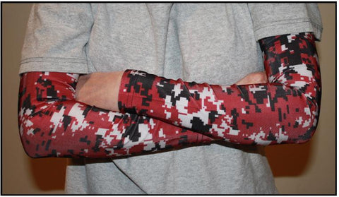 MAROON Digital Camo Compression Sleeves