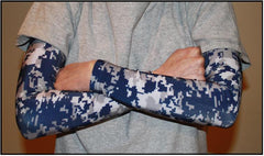 NAVY Digital Camo Compression Sleeves