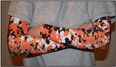 ORANGE Digital Camo Compression Sleeves