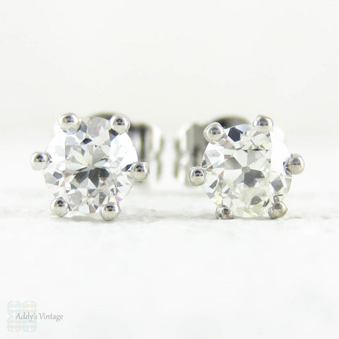 CZ White Gold 9 Karat Stud Earrings
