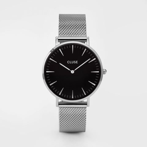 Cluse Watch Mesh Silver / Black CL18106 La Boheme