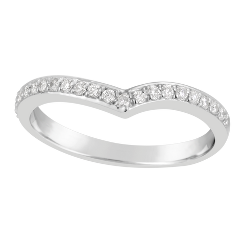 "Ladies ""V"" Shape Diamond  Ring E1356.9W"