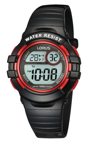 Lorus R2379HX-9 Youth Digital Black/Red Watch