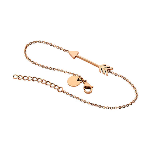 "Ellani Stainless Steel ""Arrow"" Bracelet SB179R With Rose Gold Plate"