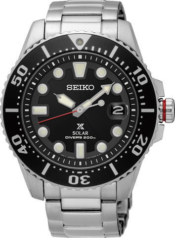 Seiko Prospex SNE437P Divers Watch Black Face Black Bezel