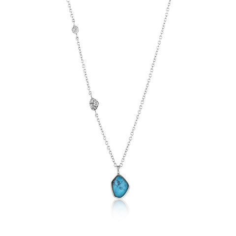 Ania Haie Turquoise Pendant Necklace Silver N014-02H