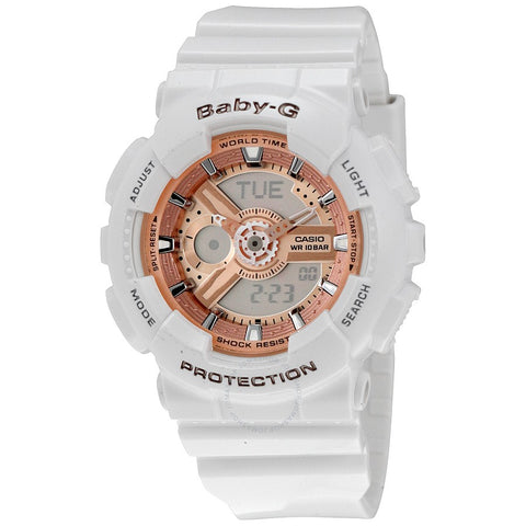 BABY G BA-110-7A1 Watch White with Rose Face