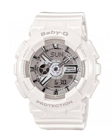 BABY G BA-110-7A3DR Watch White with White Face