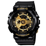 BABY G BA-110-1 Watch Black & Gold