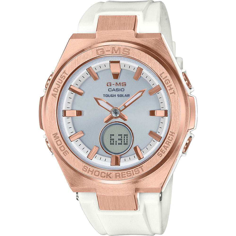 BABY G MSG-S200G-7ADR White   Rose Watch – H   S Jewellers 1172f533988