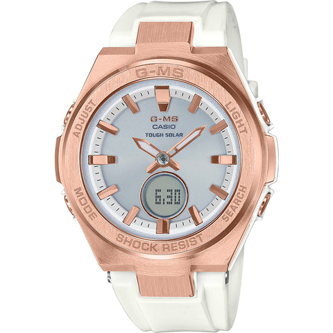 BABY G MSG-S200G-7ADR White & Rose Watch