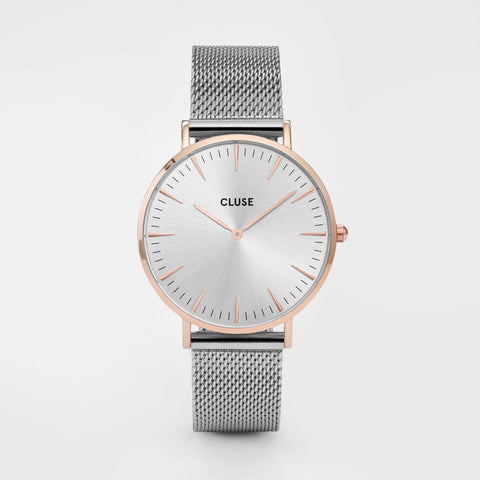 Cluse Watch Mesh Rose Gold / Silver CL18116 La Boheme