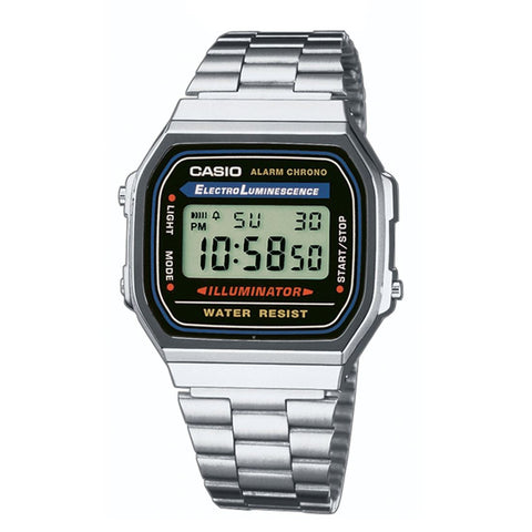 Classic Vintage Silver Colour Casio Watch A168WA-1WDF