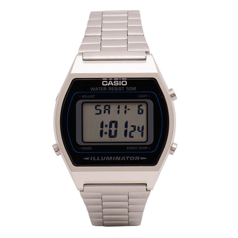 Classic Vintage Silver Colour Casio Watch B640WD-1AVDF