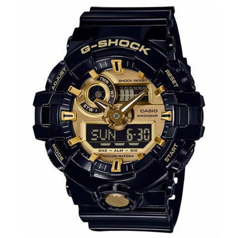G SHOCK GA-710GB-1 GShock Watch Black Gold Duo