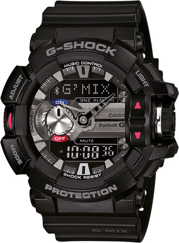 G SHOCK Bluetooth G'MIX Black Watch GBA-400-1A