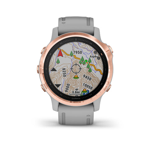Garmin fēnix® 6S Sapphire Edition - Rose Gold-tone With Powder Grey Band 010-02159-22