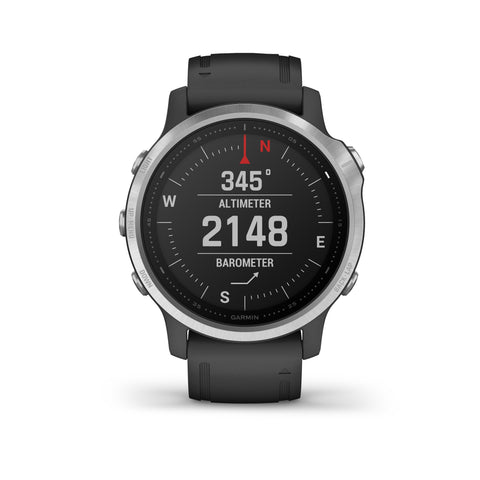 Garmin fēnix® 6S - Silver with Black Silicone Band 010-02159-01