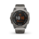 Garmin fēnix® 6X Pro Solar Edition- Titanium With Vented Titanium Band 010-02157-25