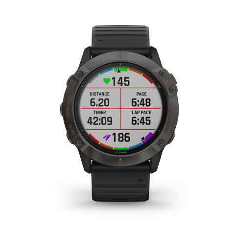 Garmin fēnix® 6X Sapphire Edition - Carbon Grey DLC With Black Band 010-02157-12