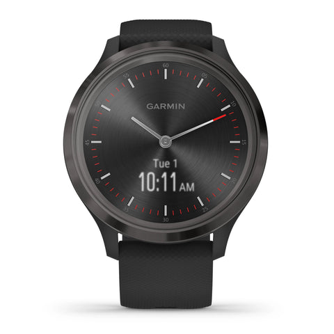 Garmin vívomove® 3 Slate Stainless Steel Bezel with Black Case and Silicone Band 010-02239-01