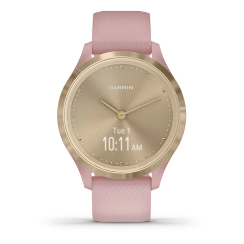 Garmin vívomove® 3S Light Gold Stainless Steel with Rose Case and Silicone Band