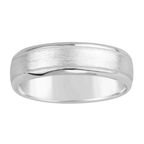 Gents Sterling Silver Classic Matt Finish Band Ring Q210A