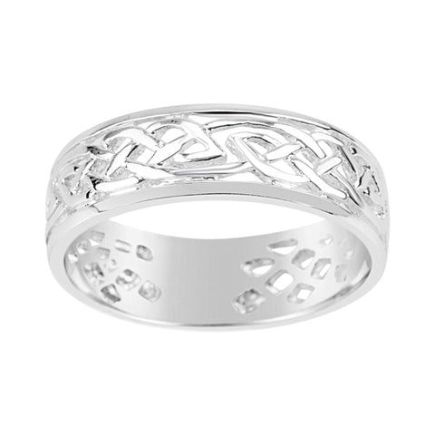 Gents Sterling Silver Dress Ring Traditional Celtic Design Q206A