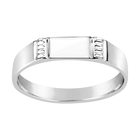 Gents Sterling Silver Dress Ring Traditional Design Q207
