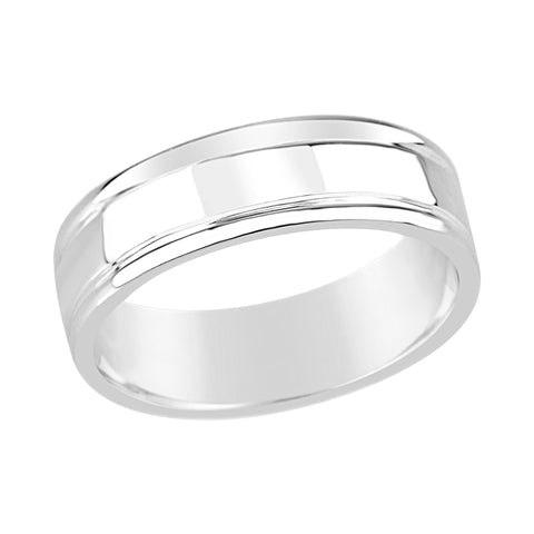 Gents Sterling Silver Fancy Band Ring Design Q208A