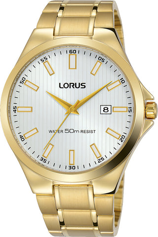 Gents Watch Yellow Gold Cream Dial 40mm Lorus RH986KX-9