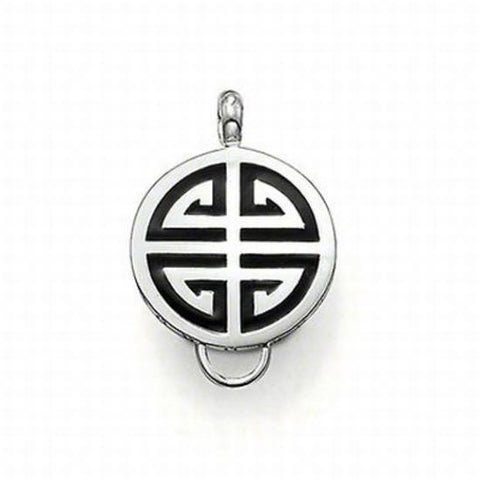 Thomas Sabo Sterling Silver Chinese Blessing Black Carrier TX0161BLK
