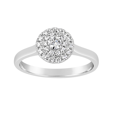 Ladies Diamond Ring with Double Halo E1515.9W