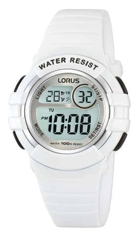 Lorus Digital White Youth R2383HX-9 Watch