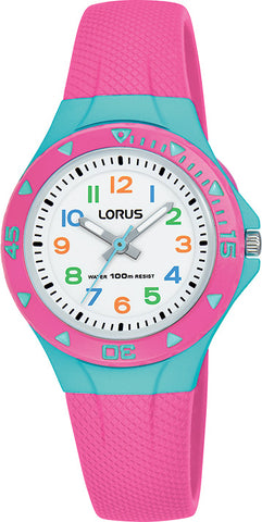 Lorus R2351MX-9 Childrens Pink Aqua Analogue Watch