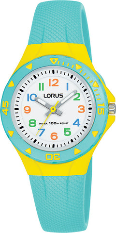 Lorus R2353MX-9 Childrens Aqua Yellow Analogue Watch