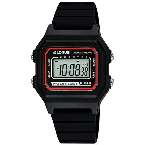 Lorus R2315NX-9 Youth Digital Black & Red Watch
