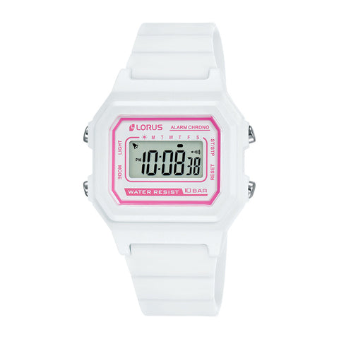 Lorus R2321NX-9 Youth Digital White & Pink Watch